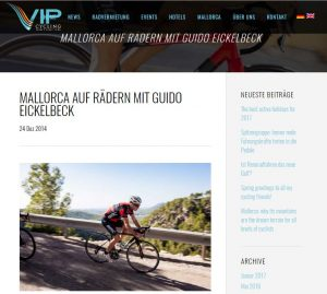 Guido Eickelbeck Cycling Events auf Mallorca